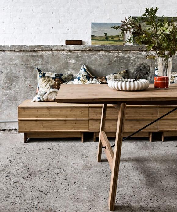 Opbevarings bænk fra we do wood på i love eco home