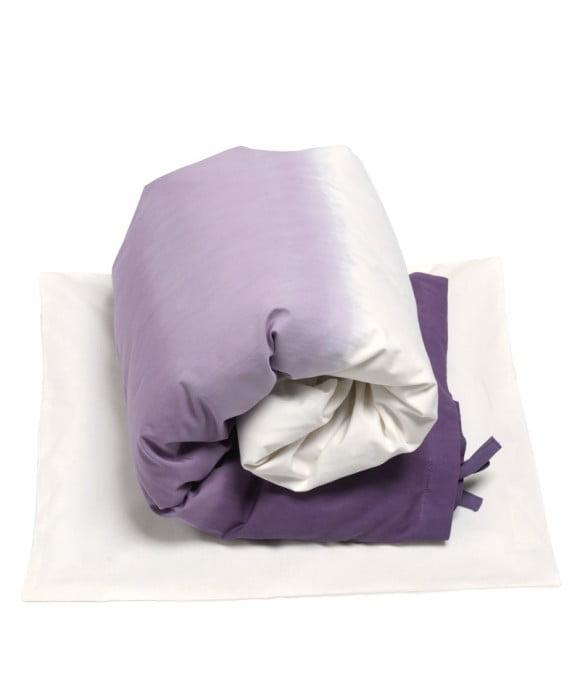 Dip Dye Økologisk GOTS Certificeret sengetøj til baby dyner og puder